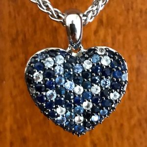 EFFY 2.75 TCW sapphire heart necklace